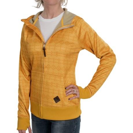 Burton Scoop Hoodie Sweatshirt - Full Zip (For Women) in Blazed Ethnic Print