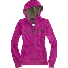 Burton Scoop Hoodie Sweatshirt - Full Zip (For Women) in Tart - Closeouts