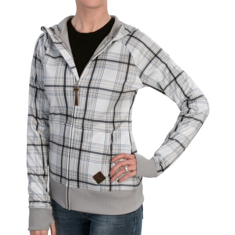 Burton Scoop Hoodie Sweatshirt - Full Zip (For Women) in Vanila Ice Twine Plaid