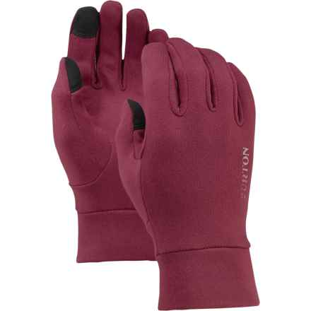 Burton Screen Grab Liner Gloves - Touchscreen Compatible (For Little and Big Girls) in Sangria - Closeouts