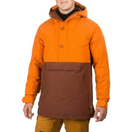 Burton Service Anorak Jacket - Waterproof, Insulated, Zip Neck (For Men) in Maui Sunset/Matador - Closeouts