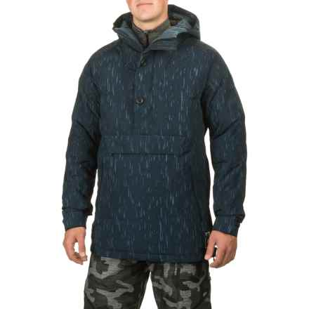 Burton Service Anorak Jacket - Waterproof, Insulated, Zip Neck (For Men) in Rain Stencil - Closeouts