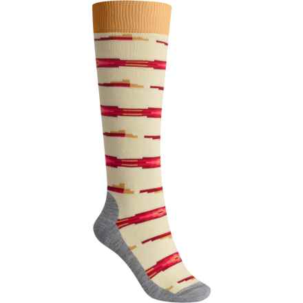 Burton Shadow Midweight Snowboard Socks - Over the Calf (For Women) in Canvas - Closeouts