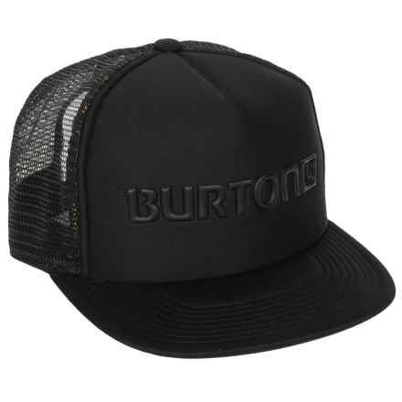 Burton Shadow Trucker Hat (For Men) in True Black - Closeouts