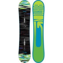 Burton Sherlock Snowboard in 154 Black Multi/Blue Green Logo - 2nds