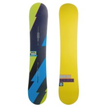 Burton Sherlock Snowboard in Navy/Yellow - Closeouts