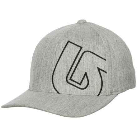 Burton Slidestyle Flexfit® Baseball Cap (For Men) in Gray Heather - Closeouts