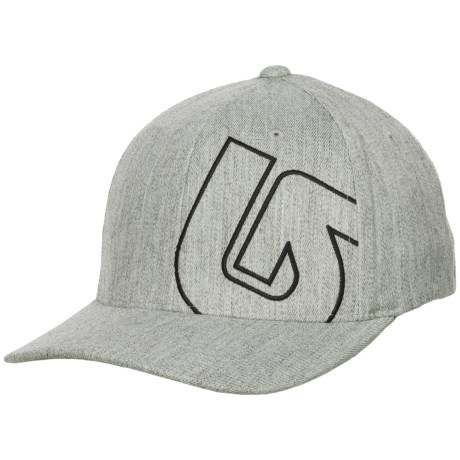 Burton Slidestyle Flexfit® Baseball Cap (For Men) in Gray Heather