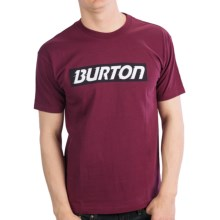 Burton Slow Motion T-Shirt - Short Sleeve (For Men) in Sangria - Closeouts