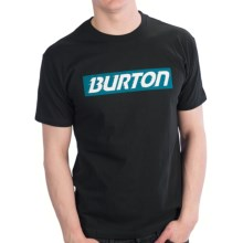 Burton Slow Motion T-Shirt - Short Sleeve (For Men) in True Black - Closeouts