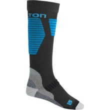 Burton Snowboard Socks - Midweight, Over the Calf (For Men) in True Black - Closeouts