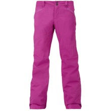 Burton Society Snowboard Pants - Waterproof, Insulated (For Women) in Grapeseed - Closeouts