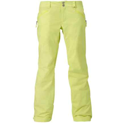 Burton Society Snowboard Pants - Waterproof, Insulated (For Women) in Sunny Lime - Closeouts