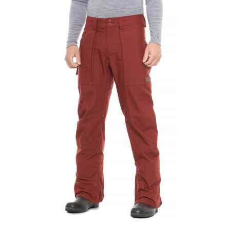 Burton Southside Snowboard Pants - Waterproof (For Men) in Fired Brick - Closeouts