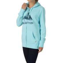 Burton Stamped Mountain Hoodie - Full-Zip (For Women) in Cancun Heather - Closeouts