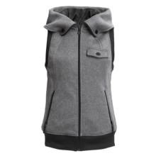 Burton Starr Fleece Vest - Hooded (For Women) in True Black - Closeouts