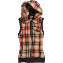 Burton Starr Vest - Fleece (For Women) in Fever Radiant Plaid - Closeouts
