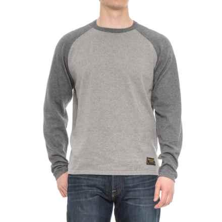Burton Stowe Raglan Sweater (For Men) in Dark Ash Heather/Monument Heather - Closeouts