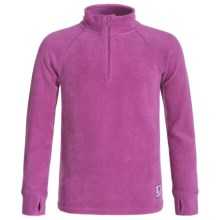 Burton Stretch Fleece Base Layer Top - Zip Neck (For Little and Big Kids) in Grapeseed - Closeouts