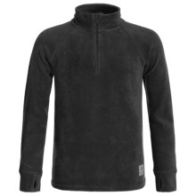 Burton Stretch Fleece Base Layer Top - Zip Neck (For Little and Big Kids) in True Black - Closeouts