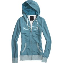 Burton Sundance Hoodie Sweatshirt - Full Zip (For Women) in Heather Spruce - Closeouts