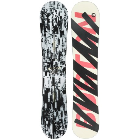 Burton Super Hero Snowboard in 154W Objection/White/Black/Pink