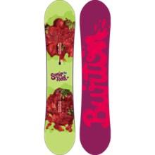 Burton Sweet Tooth Snowboard (For Women) in 141 Green/Strawberries/Purple/Pink Logo Bottom - 2nds