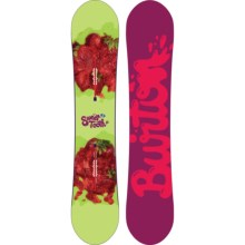 Burton Sweet Tooth Snowboard (For Women) in 148 Green/Strawberries/Purplr/Pink Logo Bottom - 2nds