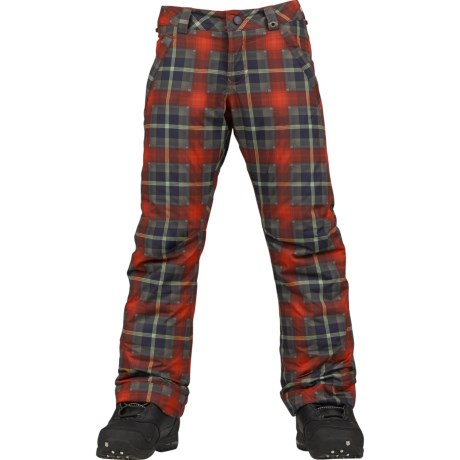 Burton Sweettart Snowboard Pants - Insulated (For Girls) in Clkwork Tartlet Plaid