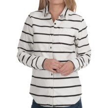 Burton Sydney Shirt - Long Sleeve (For Women) in Blanco Stripe - Closeouts