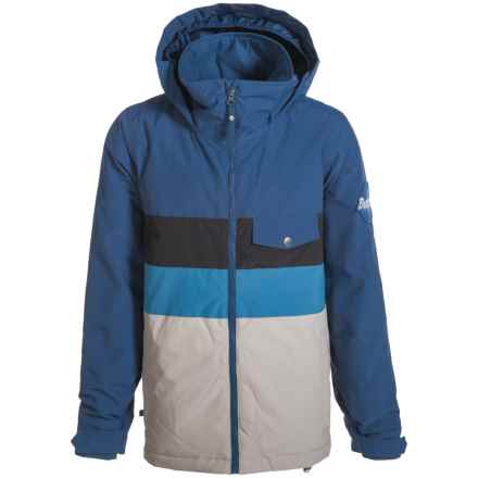 Burton Symbol Snowboard Jacket - Insulated (For Boys) in Boro Block - Closeouts