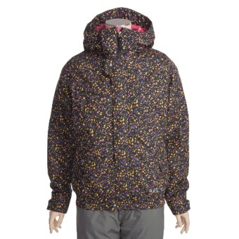 Burton Tabloid Jacket - Insulated (For Women) in True Black Liberty Dot Print