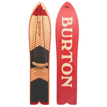 Burton The Throwback Snowboard in Red/Wood Logo - Closeouts