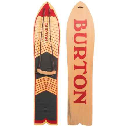 Burton The Throwback Snowboard in Wood/Red Logo - Closeouts