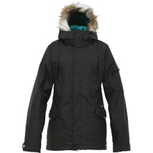 Burton The White Collection Parka Jacket - Insulated, Faux-Fur-Trimmed Hood (For Women) in True Black - Closeouts