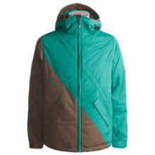 Burton The White Collection Puffaluffagus Jacket - Insulated (For Men) in Havana/Prism - Closeouts
