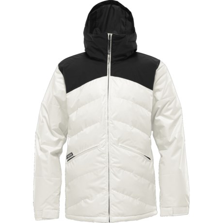 Burton The White Collection Puffaluffagus Jacket - Waterproof, Insulated (For Men) in True Black/Stout White