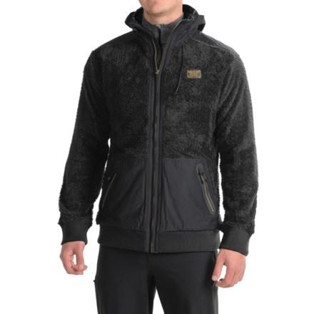 Burton Tribute Fleece Jacket - Hooded (For Men) in True Black - Closeouts 169e98bff