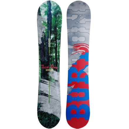 Burton Trick Pony Snowboard in Forest/Red/Blue/Smoke - Closeouts