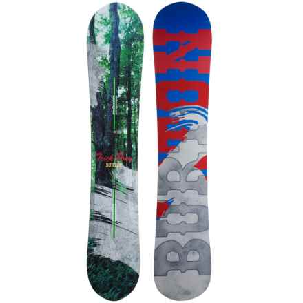 Burton Trick Pony Snowboard in Forest/Smoke/Blue/Red - Closeouts