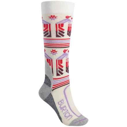Burton Trillium Snowboard Socks - NanoGLIDE-Merino Wool, Over the Calf (For Women) in Canvas - Closeouts