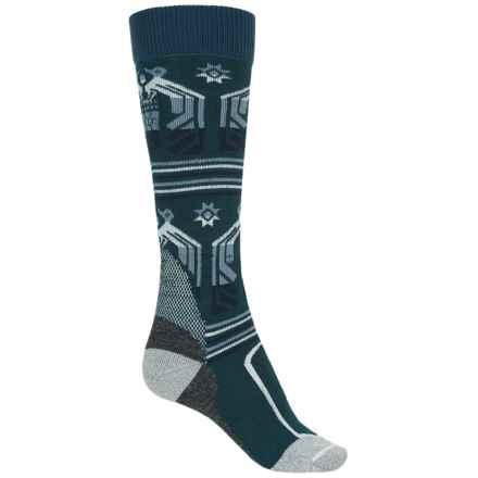 Burton Trillium Snowboard Socks - NanoGLIDE-Merino Wool, Over the Calf (For Women) in Jaded - Closeouts