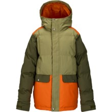 Burton Tundra Puffy Jacket - Waterproof, Insulated (For Little and Big Boys) in Algae Block - Closeouts