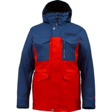 Burton TWC Cannon Snowboard Jacket - Waterproof, Insulated (For Men) in Atlantic/Burner - Closeouts