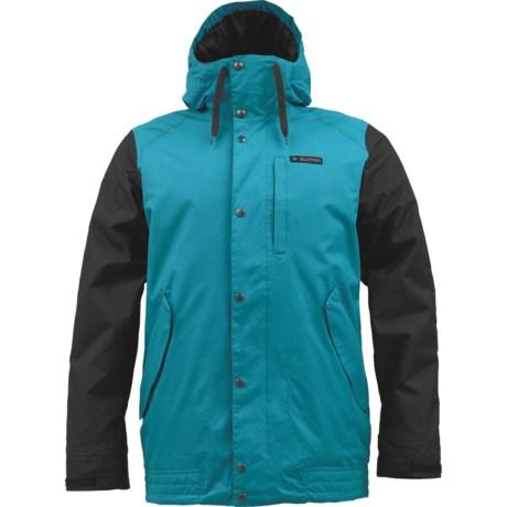 Burton TWC Throttle Snowboard Jacket - Insulated (For Men) in Meltwater/True Black