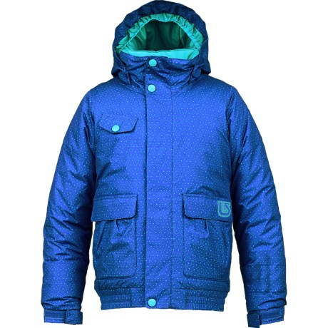 Burton Twist Bomber Snowboard Jacket - Insulated (For Girls) in Deja Blu Starry Nght