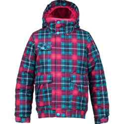 Burton Twist Bomber Snowboard Jacket - Insulated (For Girls) in Hot Streak Tartlet Plaid