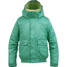 Burton Twist Bomber Snowboard Jacket - Insulated (For Girls) in Paradise - Closeouts
