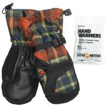 Burton Vent Mittens - Waterproof, Insulated (For Youth) in Clockwork Tartlet Plaid - Closeouts