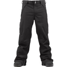 Burton Vent Snowboard Pants (For Big Men) in True Black Hndstooth - Closeouts